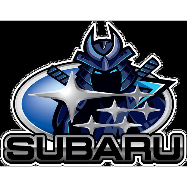 Наклейка Subaru с Самураем, фото 1