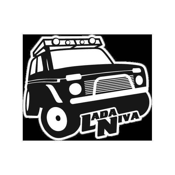 Наклейка Lada Niva, фото 1