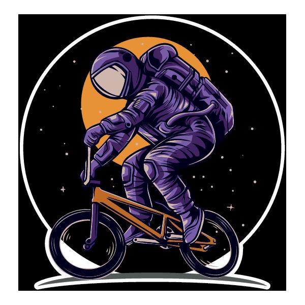 Наклейка BMX на другой планете, фото 1