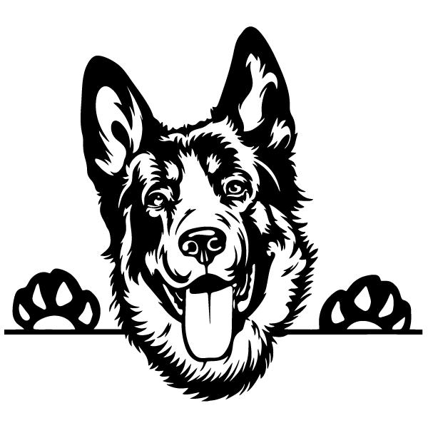 Наклейка Собака-114, фото 13