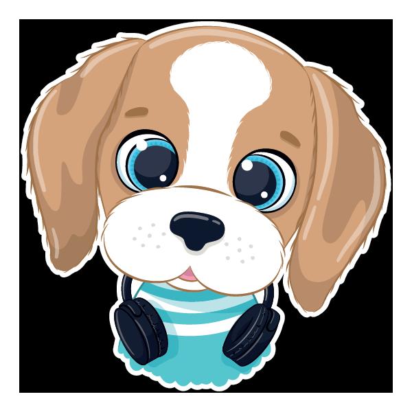 Наклейка Собака-100, фото 1