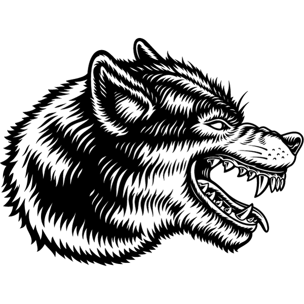 Наклейка Волк-132, фото 13