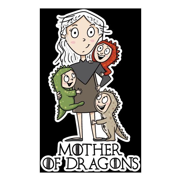 Наклейка Mother of Dragons-3, фото 1