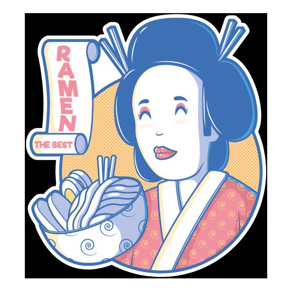 Наклейка Японская женщина-210, фото 1