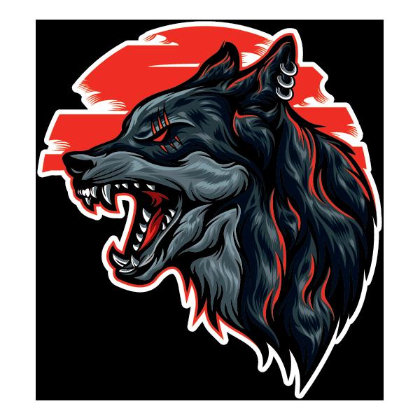 Наклейка Волк-123, фото 1