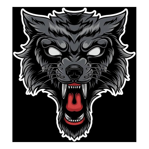 Наклейка Волк-127, фото 1