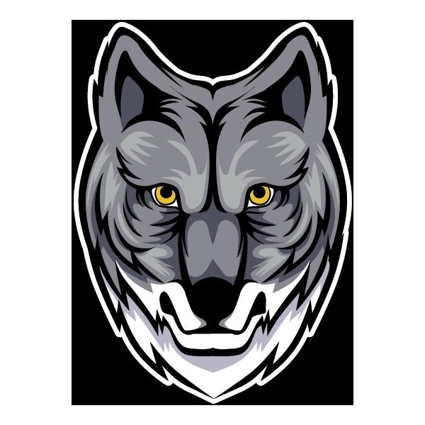 Наклейка Волк-128, фото 1