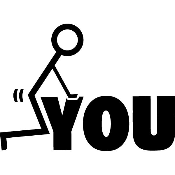 Наклейка F#ck you, фото 13
