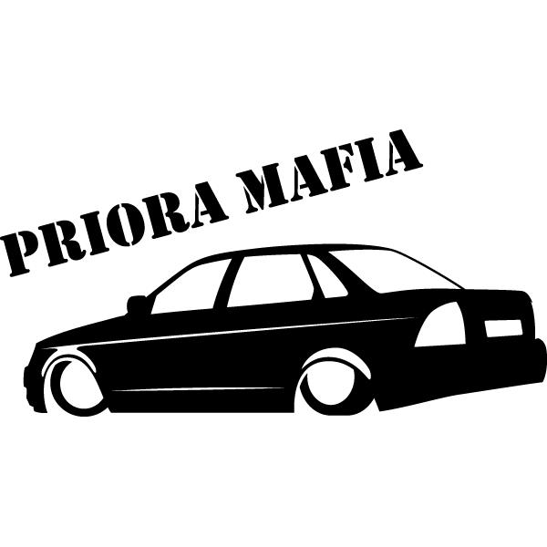 Наклейка Priora mafia, фото 13