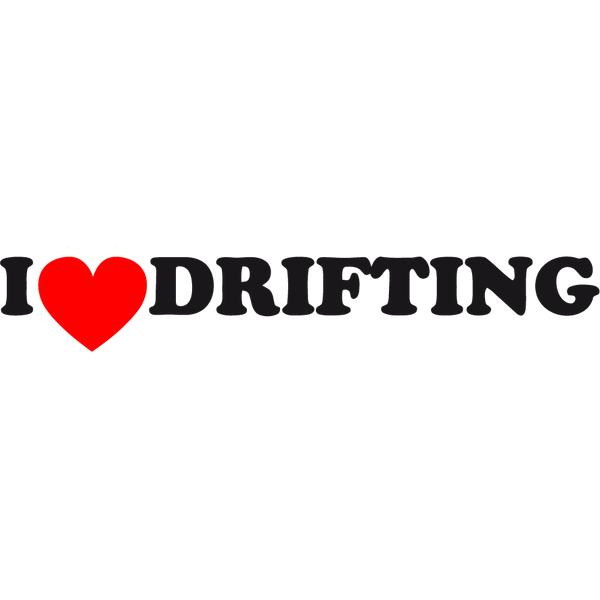 Наклейка I love drifting, фото 3