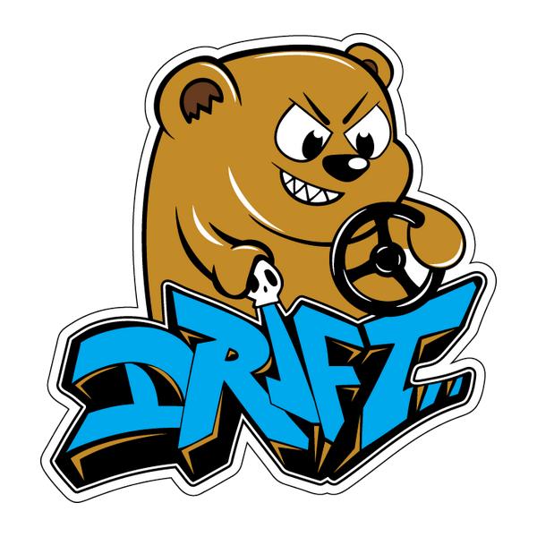 Наклейка Drift bear, фото 1