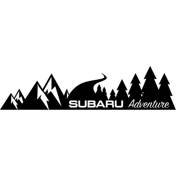 Наклейка Subaru Adventure на правый борт, фото 13