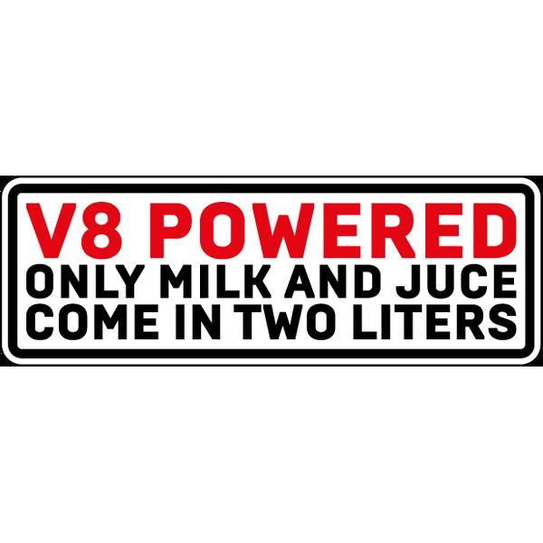 Наклейка V8 Powered, фото 1