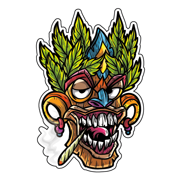 Наклейка Растаманская маска-019, фото 1