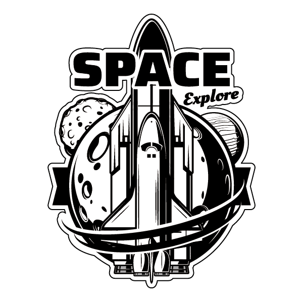 Наклейка Space Explore, фото 1