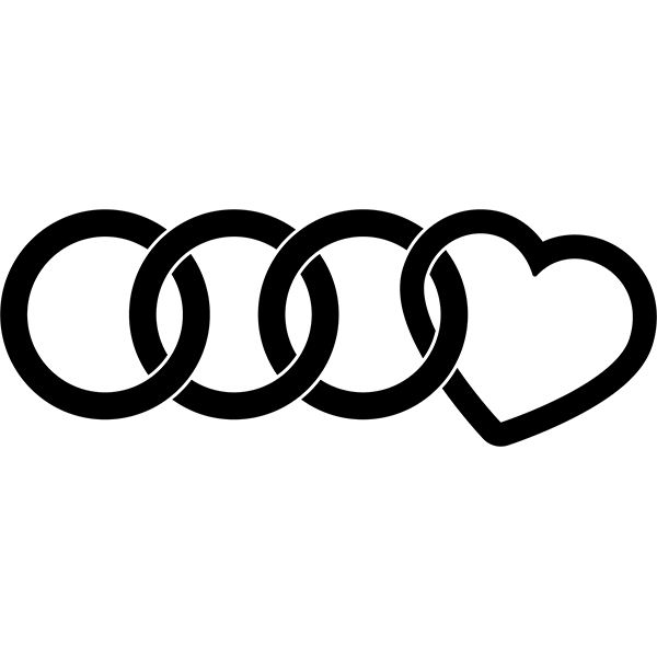 Наклейка Love Audi, фото 13