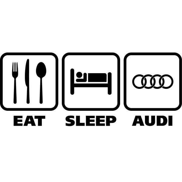 Наклейка Eat Sleep Audi, фото 13
