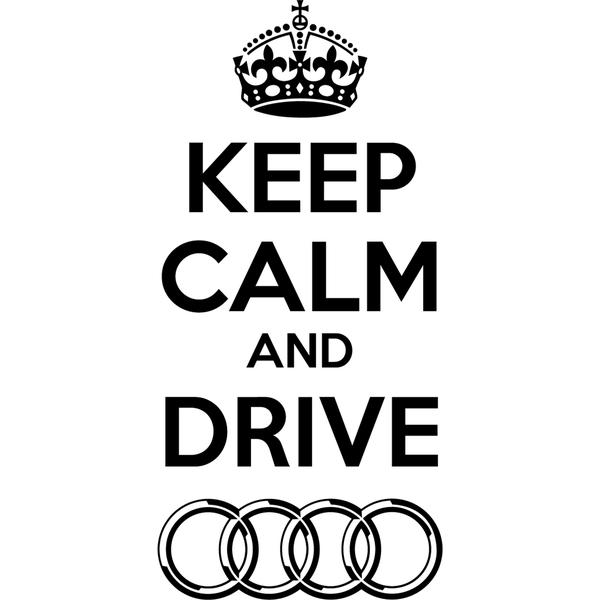 Наклейка Keep Calm Audi, фото 13