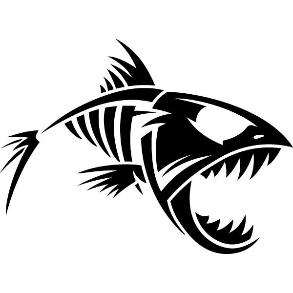 Наклейка Скелет рыбы, фото 13